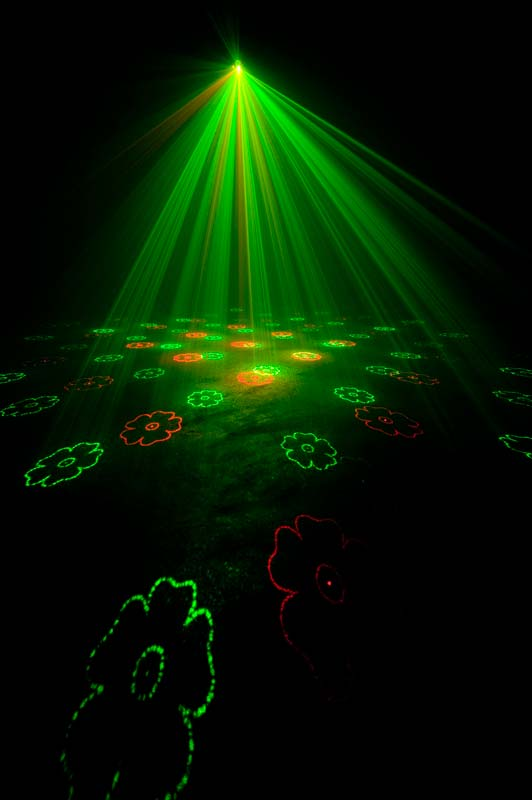 American Dj Micro Gobo Red And Green Pattern Laser With