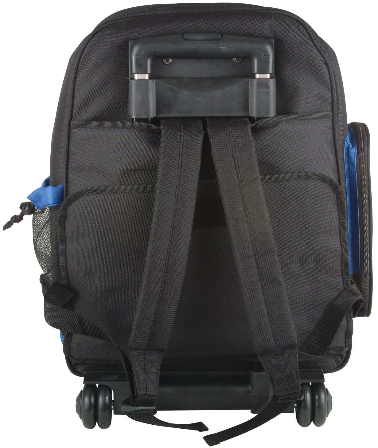 arriba ls520 wheeled backpack dj lighting transport case