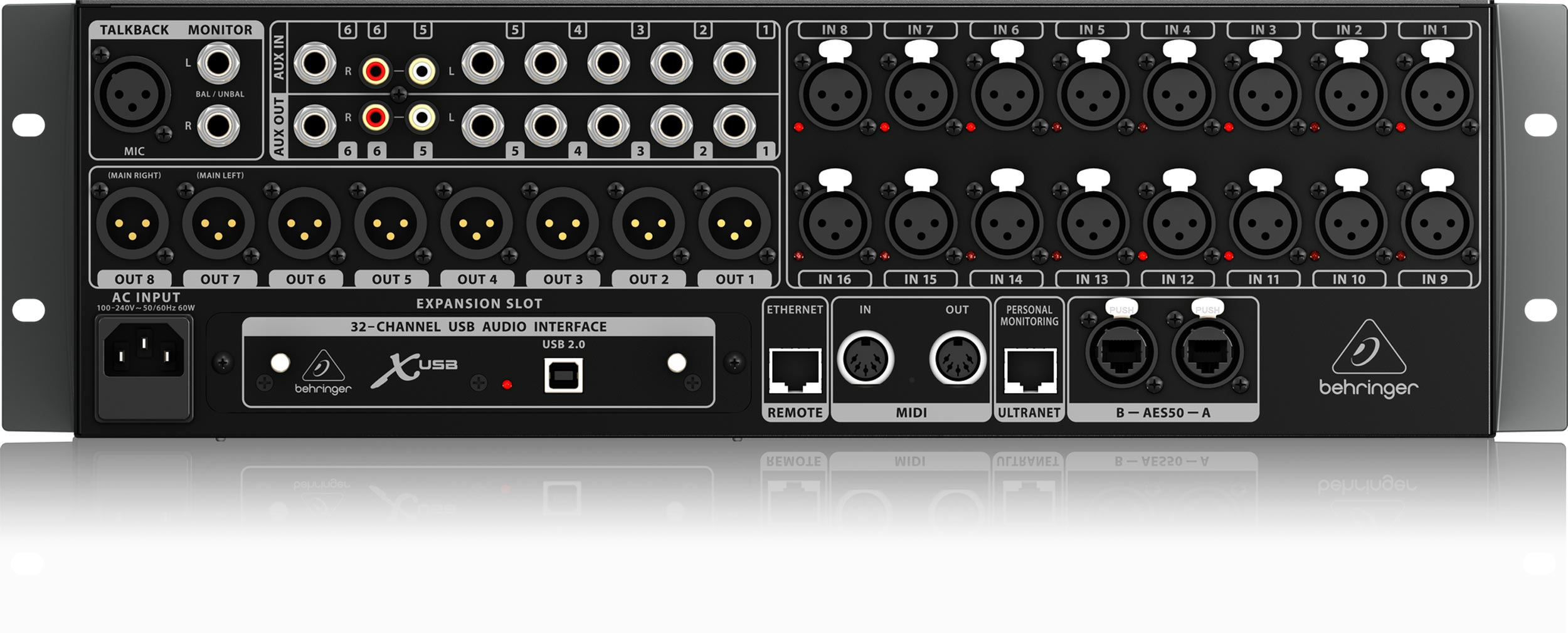 behringer x32 rack 40 input 25 bus digital rack mixer agiprodj. Black Bedroom Furniture Sets. Home Design Ideas