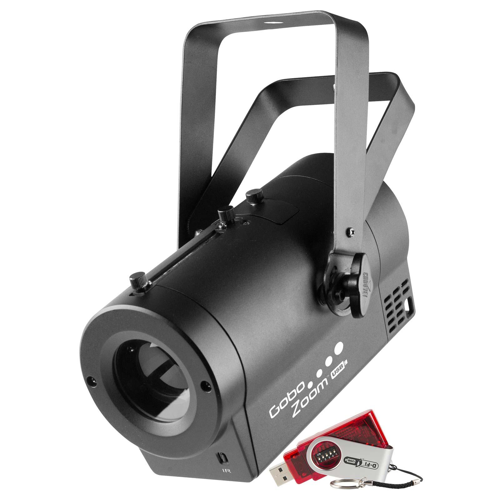 Chauvet dj gobo zoom usb compact wireless dmx led gobo for Compact projector