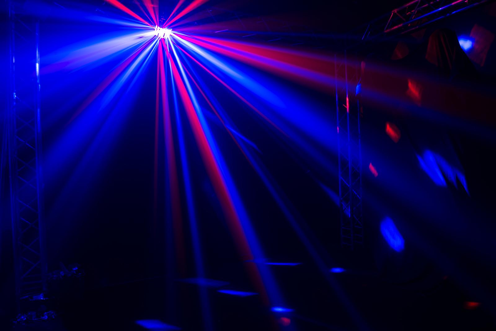 100 Dj Beam Effect Laser Light 7ch Dmx 6 Heads Rgb