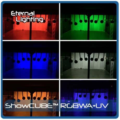 eternal lighting showcube rgbaw uv battery powered led wash