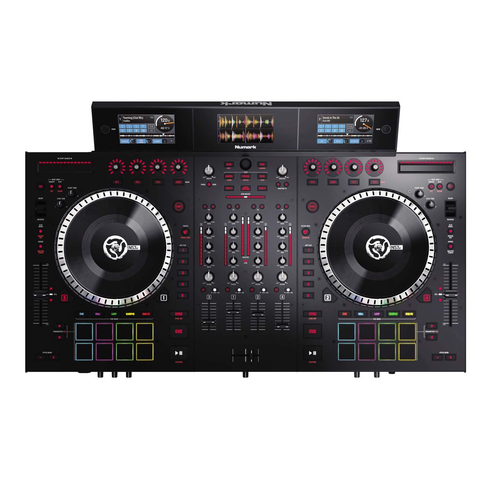 NUMARK NS7III | 4-Deck Serato DJ Controller with 3-Screen ...