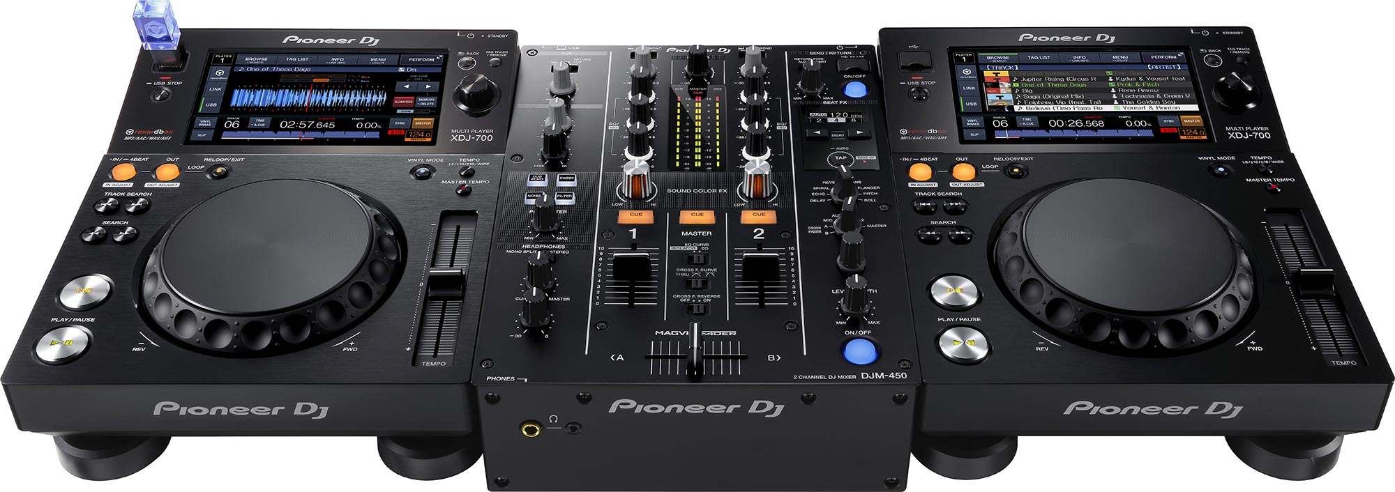 pioneer djm 450 2 channel dj mixer with audio interface. Black Bedroom Furniture Sets. Home Design Ideas
