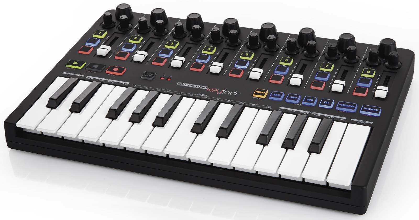 reloop keyfadr compact usb midi keyboard with daw control agiprodj. Black Bedroom Furniture Sets. Home Design Ideas