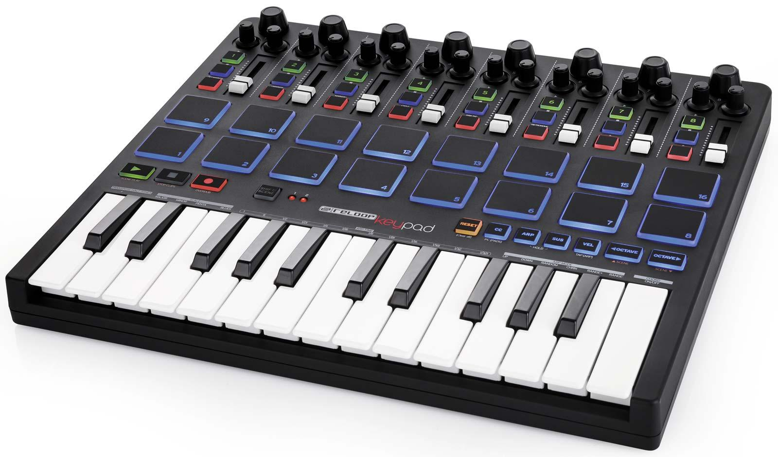 reloop keypad compact usb midi keyboard with daw control pads agiprodj. Black Bedroom Furniture Sets. Home Design Ideas