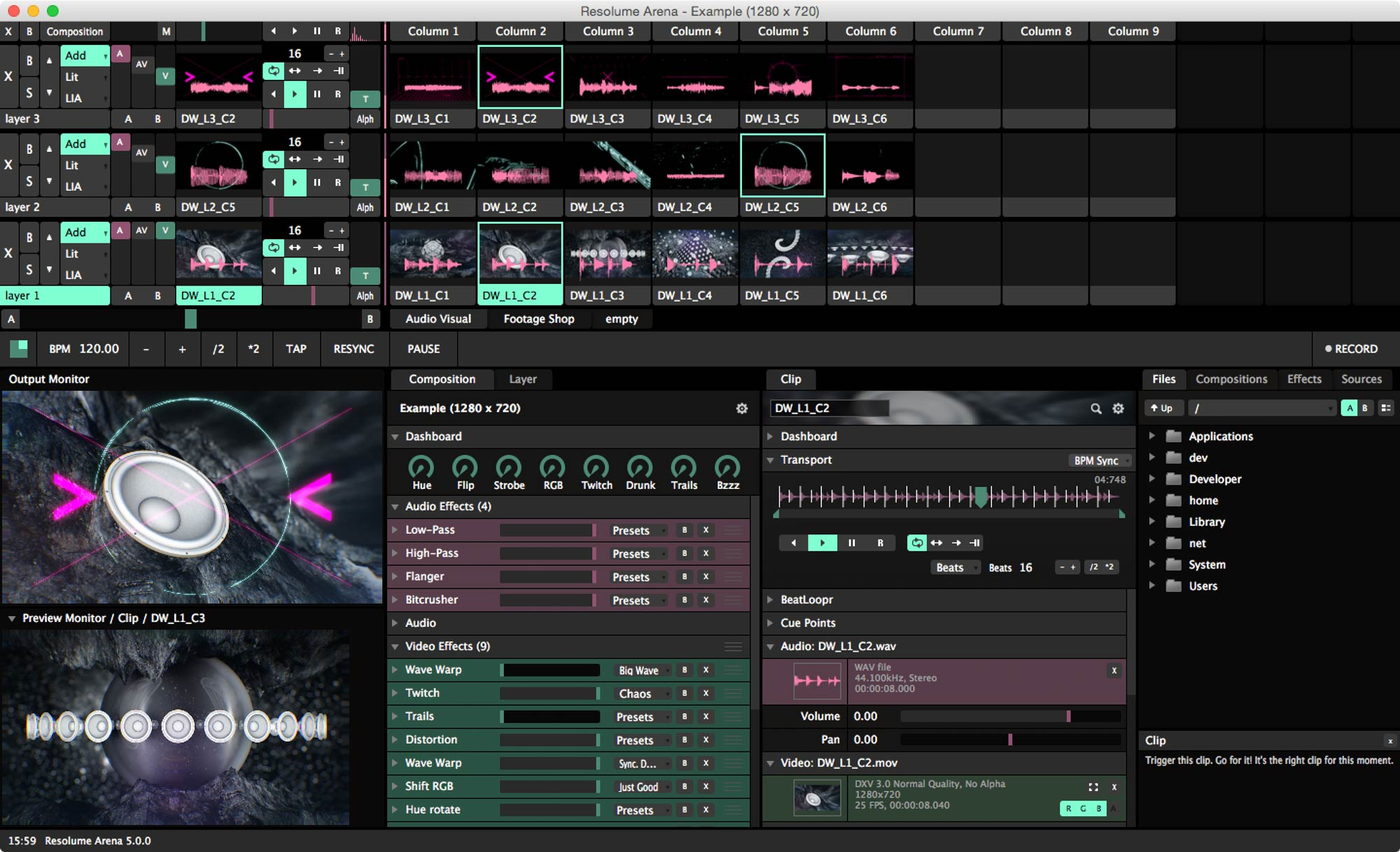 Djing Software Free >> RESOLUME ARENA 5 VJ Software - Live HD Video Mixing + Projection Mapping & Advanced Features