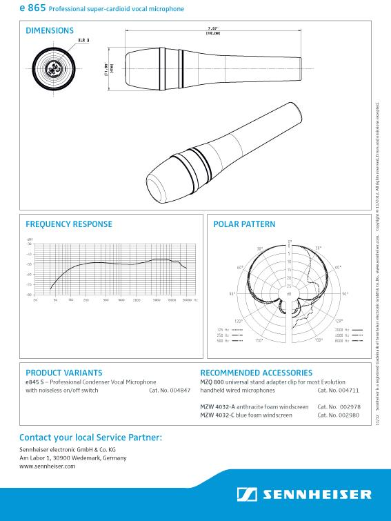 Sennheiser Evolution Supercardioid Condenser Microphone