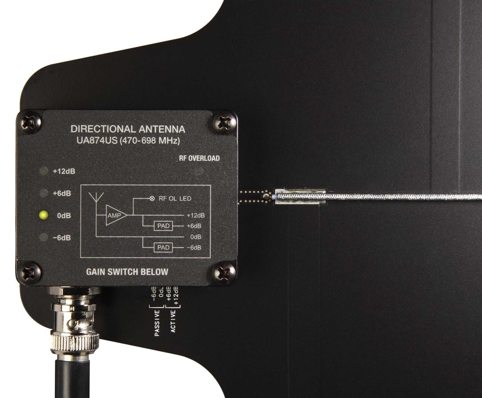 Shure Ua874us Active Directional Antenna With Gain