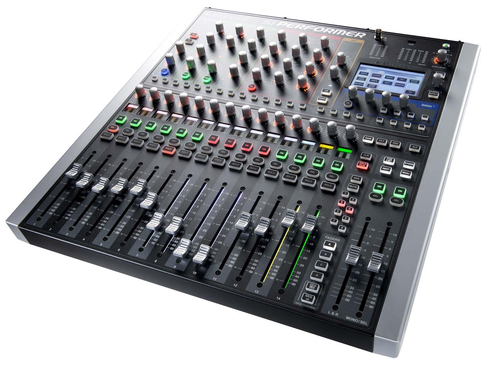 soundcraft si performer 1 16 channel digital live sound mixing console agiprodj. Black Bedroom Furniture Sets. Home Design Ideas