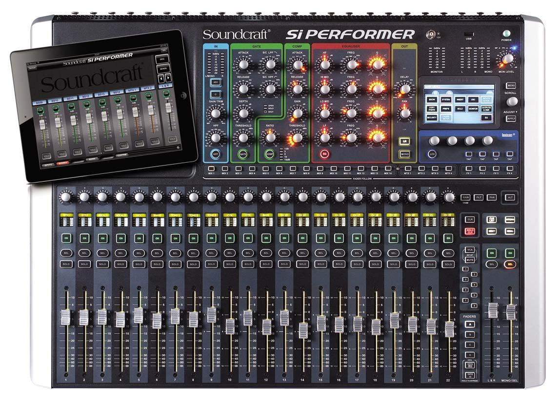 soundcraft si performer 2 24 channel digital live sound mixing console agiprodj. Black Bedroom Furniture Sets. Home Design Ideas