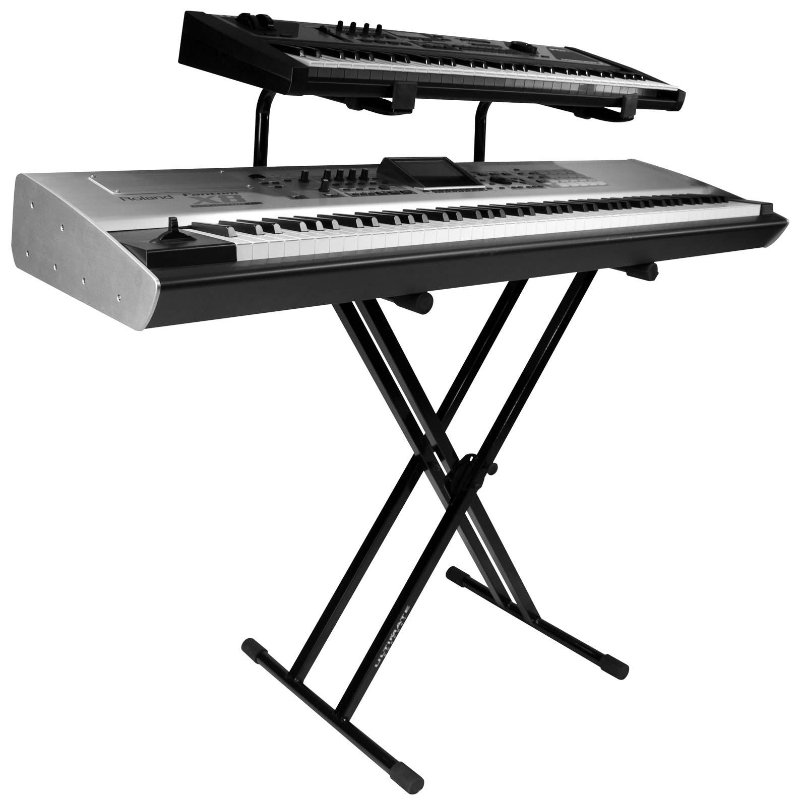 Ultimate Support Iq 2200 2 Tier Double Braced Keyboard