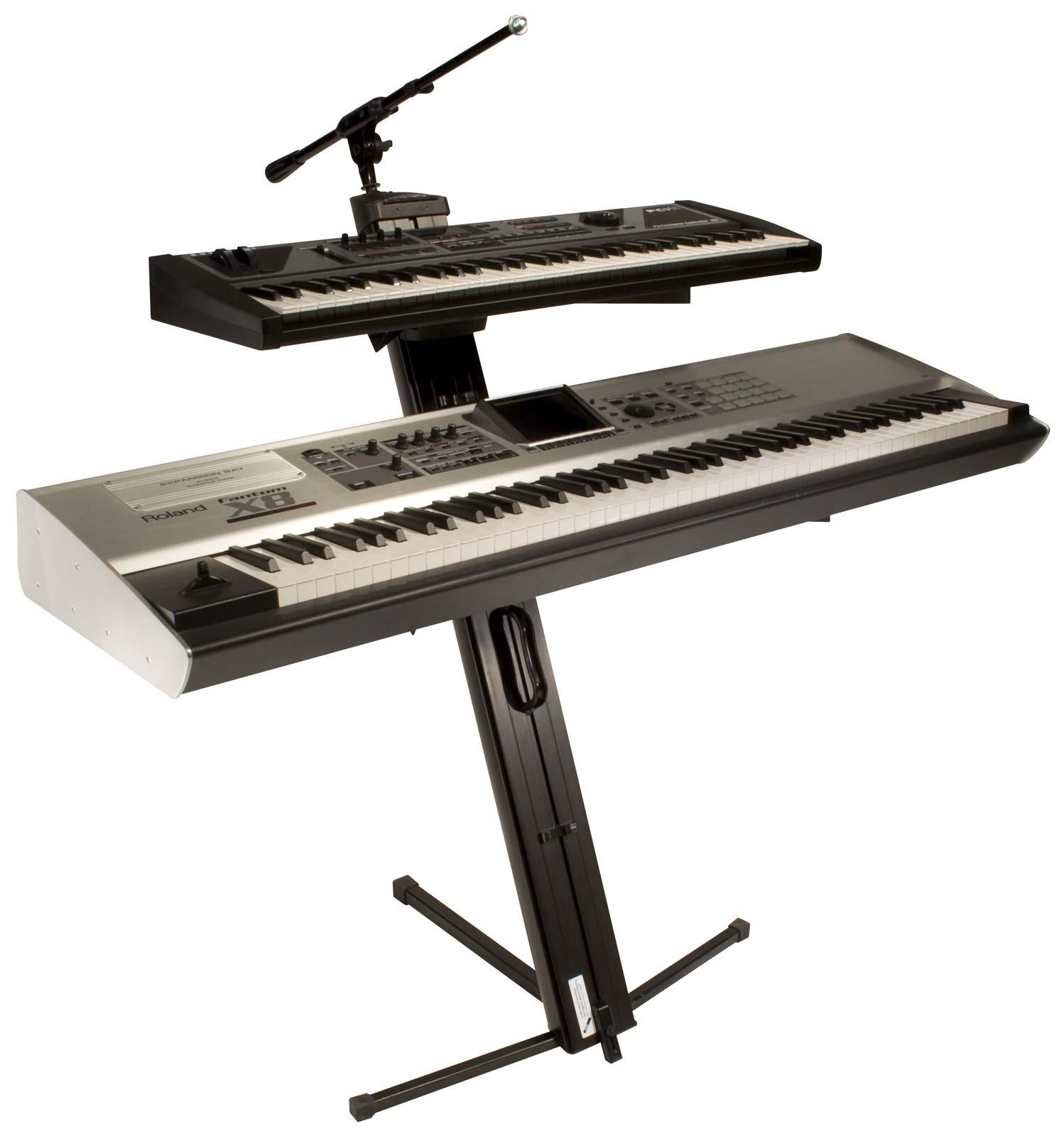 ultimate support apex ax 48 pro plus 2 tier keyboard stand wboom agiprodj. Black Bedroom Furniture Sets. Home Design Ideas