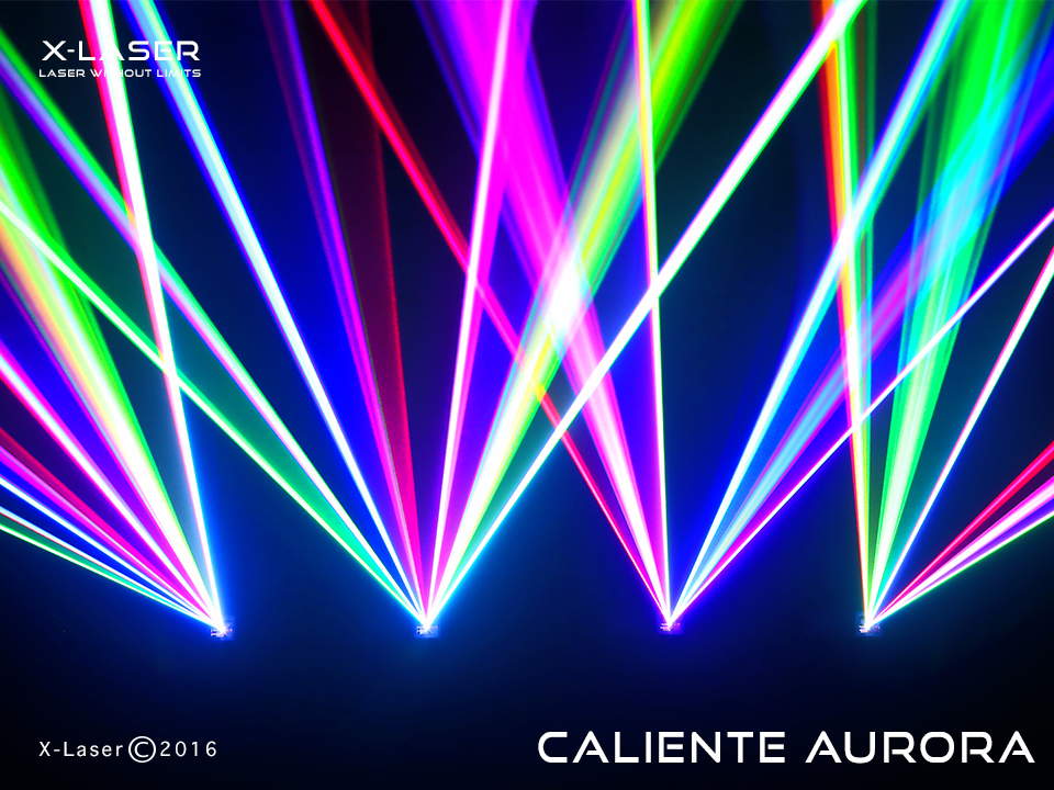 X-LASER Caliente Aurora 700mW RGB Liquid Sky and Hot Beam Laser Projector