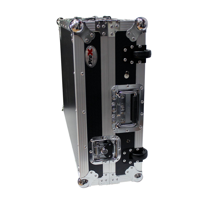 Prox Xs Mcx8000wlt Flight Case With Sliding Laptop Shelf And Penn Elcom Wheels For Denon Mcx8000