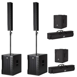 RCF EVOX 12 Bundle with Two Array Systems + Covers