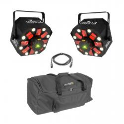 2 CHAUVET DJ Swarm 5 FX, FREE Dual Carrying Bag & DMX Cable Bundle 2 SWARM 5 FX BUNDLE + FREE BAG & DMX CABLE