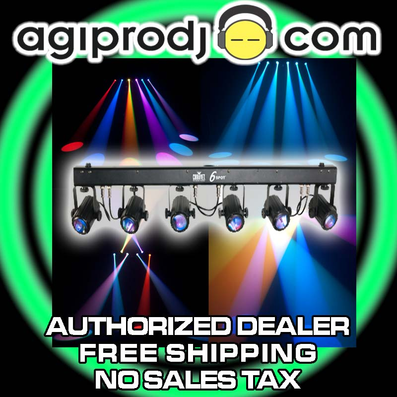chauvet 6spot led lighting bar stage light system. Black Bedroom Furniture Sets. Home Design Ideas