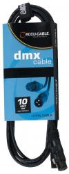 ACCU-CABLE AC3PDMX10 Male to Female DMX Lighting Cable 10' AC3PDMX10