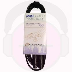ACCU-CABLE AC3PDMX15PRO Male to Female DMX Lighting Cable 15' AC3PDMX15PRO