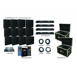 ADJ AVX4X3 AV6X 4 X 3 Panel Video Wall (12 Panels) Complete Turnkey System - Includes EVERYTHING! AVX4X3 VIDEO WALL