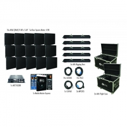 ADJ AVX5X3 AV6X 5 X 3 Panel Video Wall (15 Panels) Complete Turnkey System - Includes EVERYTHING! AVX5X3 VIDEO WALL