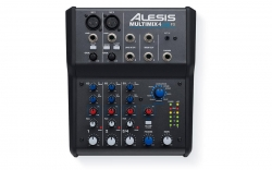 ALESIS MULTIMIX 4 USB FX Four-Channel Mixer with Effects and USB Audio Interface MULTIMIX 4 USB FX