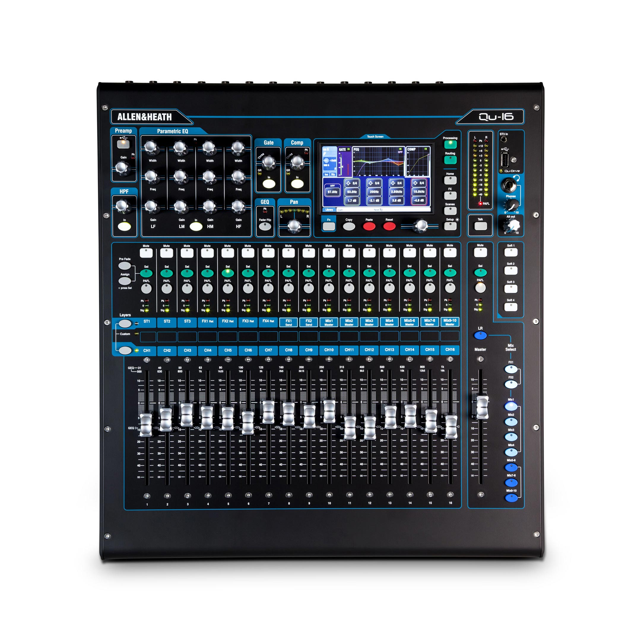 allen heath qu 16 chrome edition 16 channel digital mixing console agiprodj. Black Bedroom Furniture Sets. Home Design Ideas