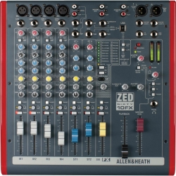 ALLEN & HEATH ZED60-10FX Multipurpose Mixer with FX for Live Sound and Recording ZED60-10FX