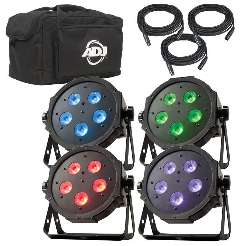 american dj mega flat tri pak plus led lighting package agiprodj