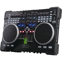 AMERICAN AUDIO VMS5 Table top MIDI controller with sound card - Includes Virtual DJ 8LE with Video Mixing VMS5