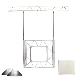 AMERICAN DJ ADJ PRO EVENT TABLE II BUNDLE with I-Beam White Scrim and Corner Shelves PRO EVENT TABLE II BUNDLE