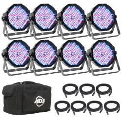 ADJ AMERICAN DJ MEGA FLAT PAK 8 PLUS LED Par System with Eight Mega Par Profile Plus MEGA FLAT PAK 8 PLUS