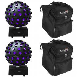 2 ADJ STARBURST 6-Color LED Sphere Effect - DMX RGBWA+UV BUNDLE WITH BOGO Bags 2 ADJ STARBURST BUNDLE WITH BOGO BAGS
