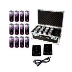 APE LABS LightCan 12 PC Tour Pack Includes 12 Lights 1 Charging Case 1 Remote Control LightCan 12 PC Tour Pack