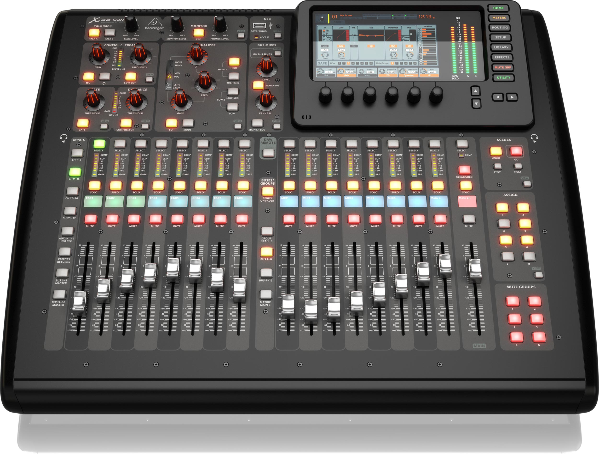 behringer x32 compact 40 input 25 bus digital mixing console agiprodj. Black Bedroom Furniture Sets. Home Design Ideas