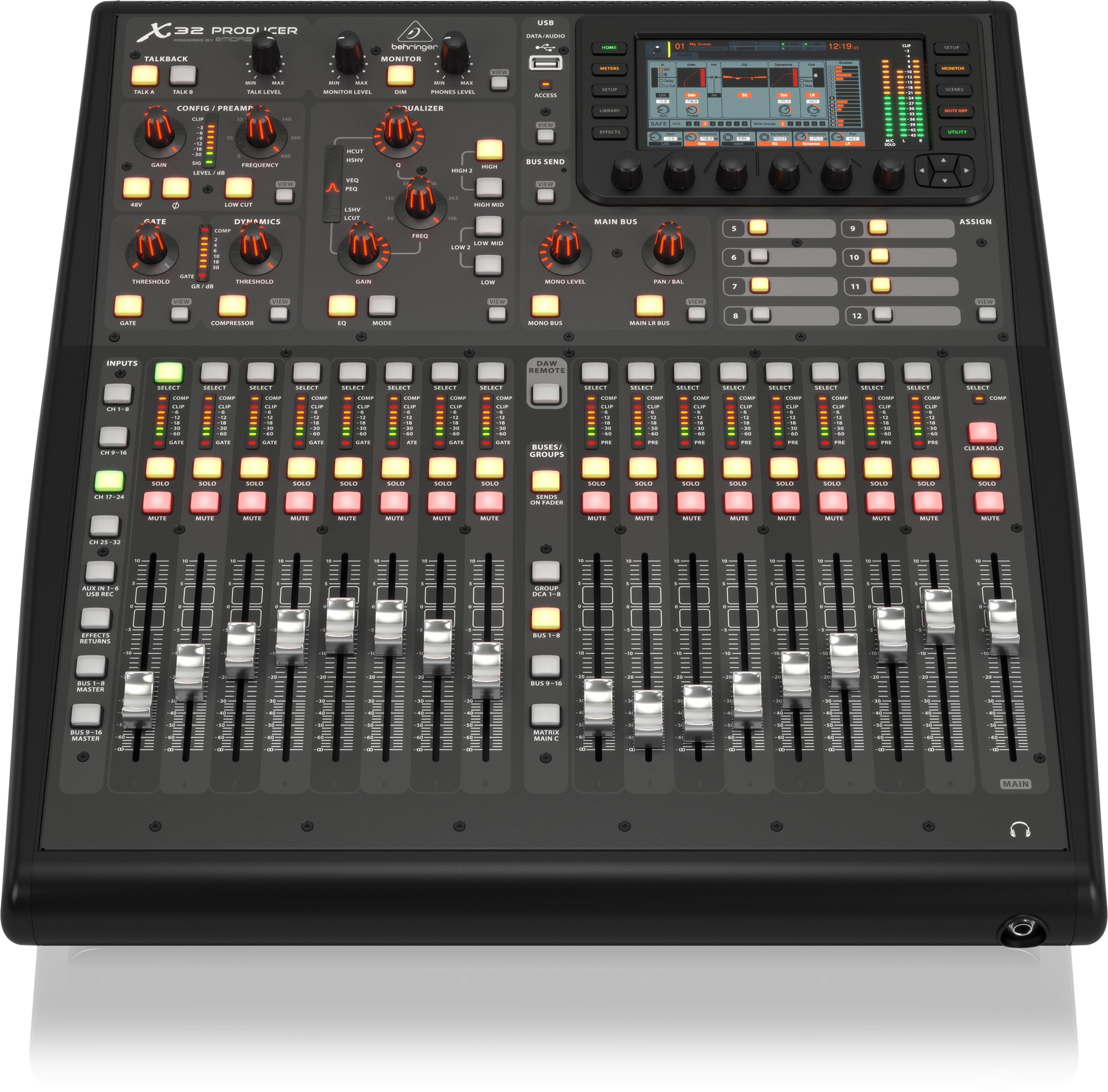 BEHRINGER X32 PRODUCER 40-Input 25-Bus Rack-Mountable Digital Mixing Console