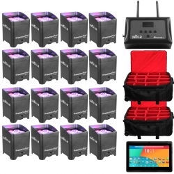 CHAUVET DJ 16 Freedom Par Quad-4 Bundle with FlareCON Air + FREE Android Tablet & 2 FREE Rolling Carry Bags 16 FREEDOM PAR QUAD-4 BUNDLE + FLARECON AIR - 2 BRLPAR BAG & ANDROID TABLET