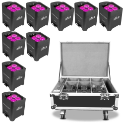 CHAUVET DJ 9 FREEDOM PAR HEX4 Bundle with Charging Case 9 FREEDOM PAR HEX 4 CHARGE CASE BUNDLE