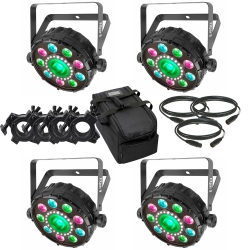 CHAUVET DJ FXpar 9 BUNDLE with FREE BAG, 4 O-CLAMPS & 3 CABLES 4 FXpar9 BUNDLE FREE BAG, CLAMPS, CABLES