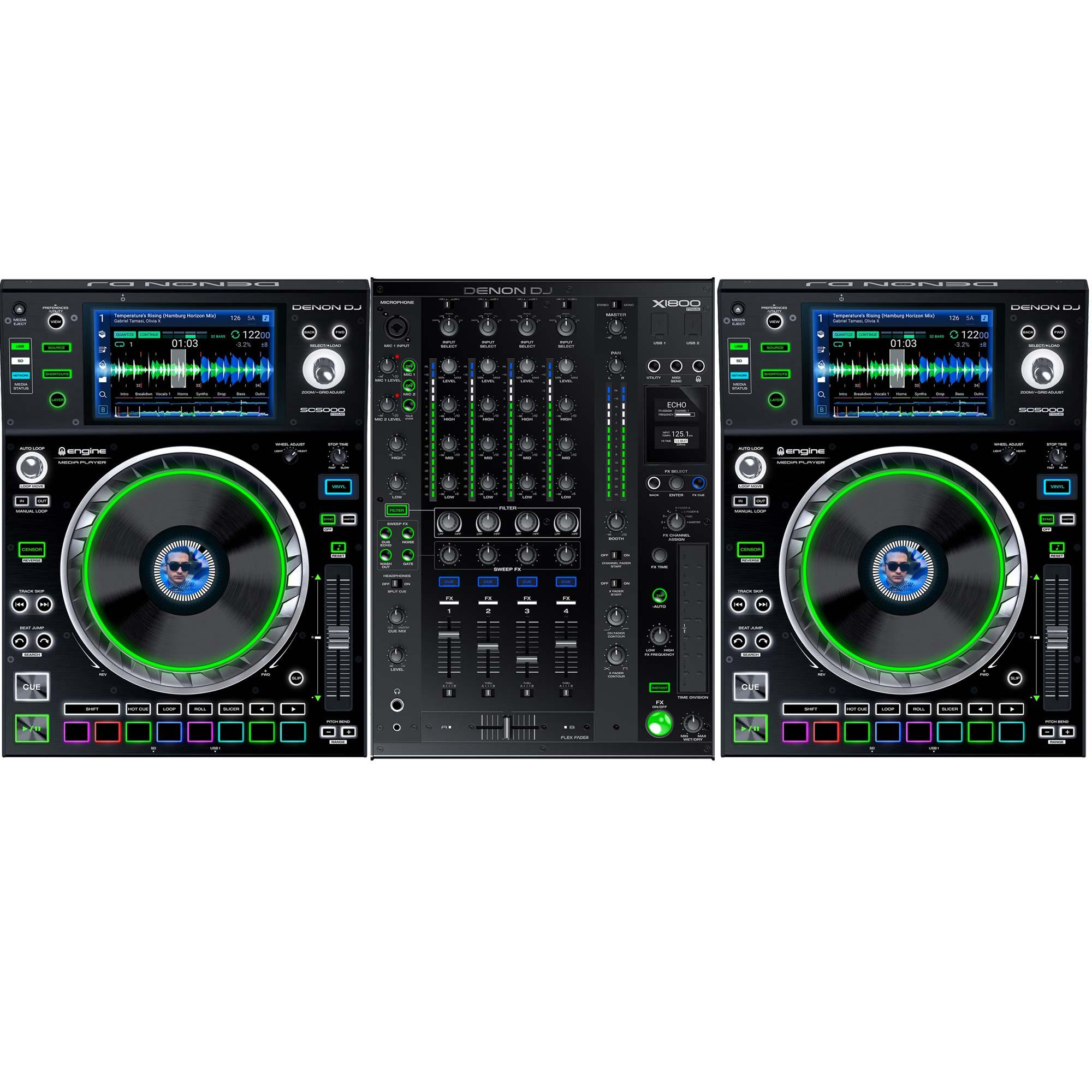 Denon Dj Sc5000 X1800 Complete Prime System 2 X Sc5000 1