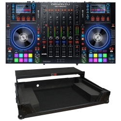 DENON DJ MCX8000 Controller for Serato DJ & Engine Bundle with FREE Black Slide Shelf Flight Case MCX8000 + FREE SLIDE SHELF BLACK CASE BUNDLE