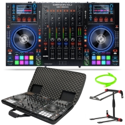 DENON DJ MCX8000 Bundle with Controller + Case, Oyaide Neo d+ 1m USB Cable, and Laptop Stand MCX8000 BUNDLE