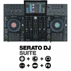 DENON DJ PRIME 4 Bundle with Four-Channel Controller + Serato DJ Suite PRIME 4 + SERATO DJ SUITE