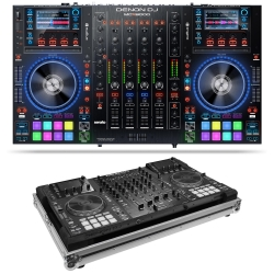 DENON DJ MCX8000 Bundle with Controller for Serato DJ & Engine + Odyssey Flight Case MCX8000 BUNDLE - CHROME/BLACK