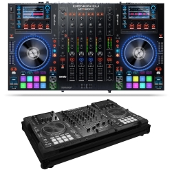 DENON DJ MCX8000 Bundle with Controller for Serato DJ & Engine + Black Odyssey Flight Case MCX8000 BUNDLE - BLACK