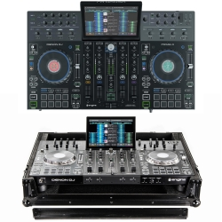 DENON DJ PRIME 4 Bundle with Four-Channel DJ Controller + FREE Odyssey Black Road Case PRIME 4 BUNDLE - BLACK