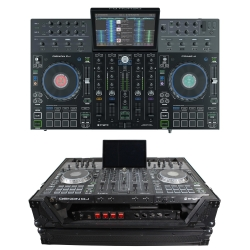 DENON DJ PRIME 4 4-Channel DJ Controller Bundle with FREE BLACK 1U Under Road Case PRIME 4 BLACK 1U CASE BUNDLE