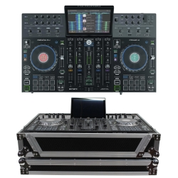 DENON DJ PRIME 4 4-Channel DJ Controller Bundle with FREE 1U Under Road Case PRIME 4 1U CASE BUNDLE