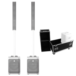 2 ELECTRO-VOICE EVOLVE 50 WHITE + Rolling Flight Case Bundle 2 EVOLVE 50 WHITE + ROLLING CASE BUNDLE